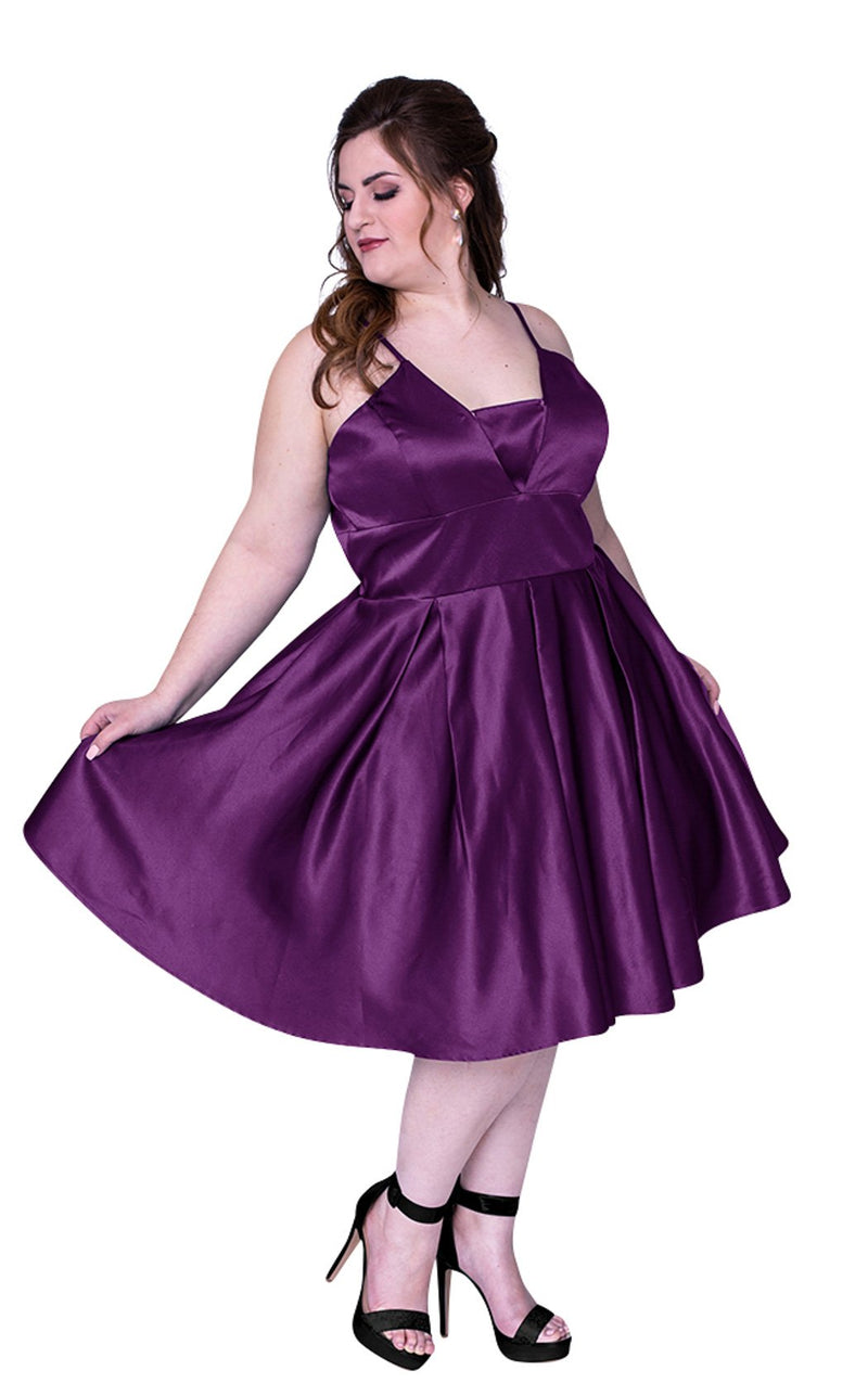 Sydneys Closet SC8092 Dress Purple