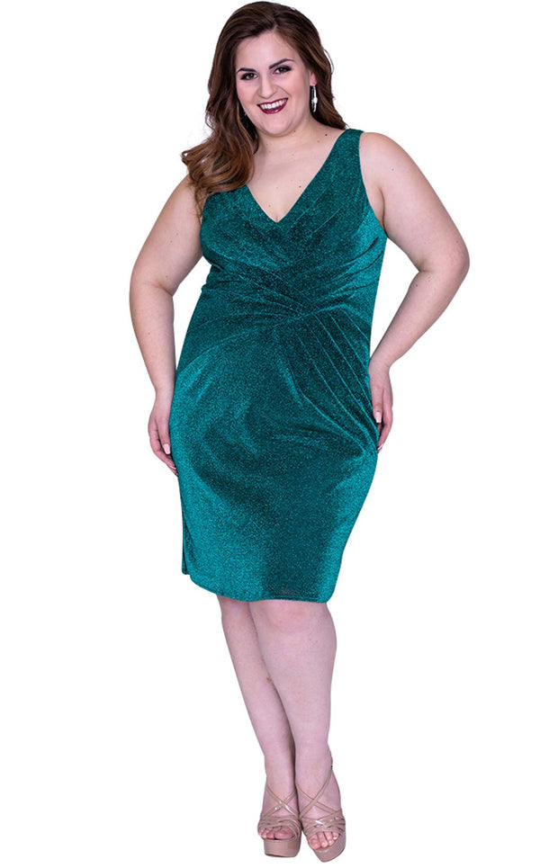 Sydneys Closet SC8093 Dress Emerald