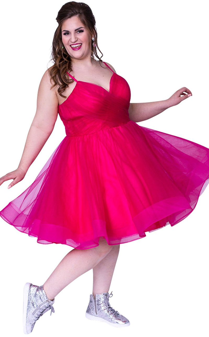 Sydneys Closet SC8094 Dress Pink-Berry
