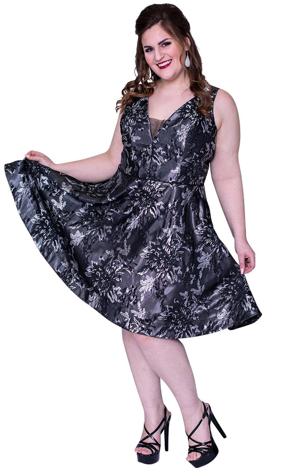 Sydneys Closet SC8098 Dress Gunmetal