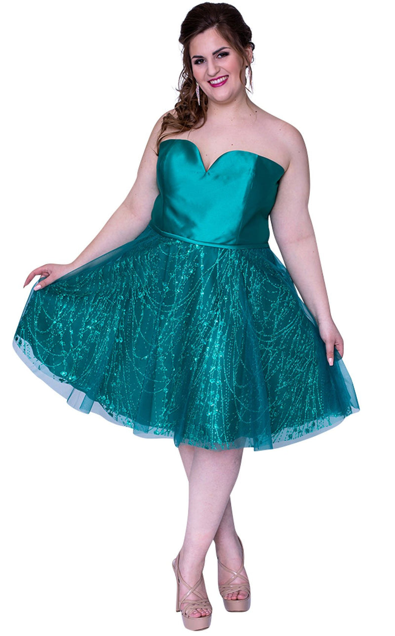 Sydneys Closet SC8101 Dress Emerald