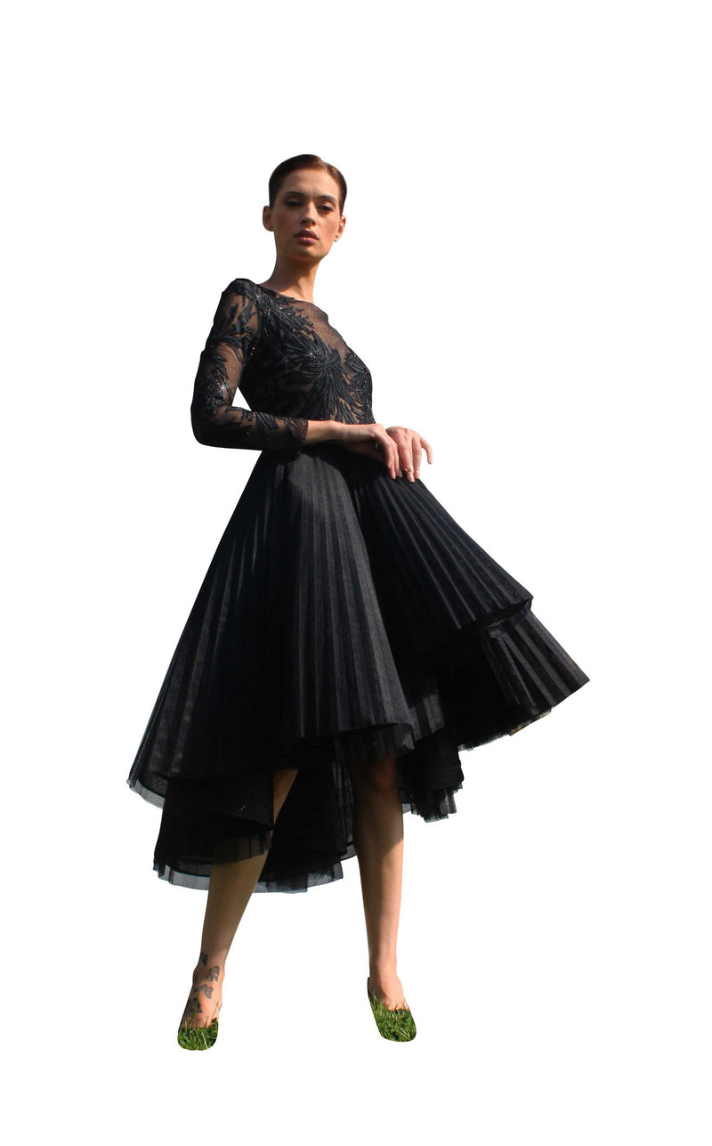 Edward Arsouni Couture SS613 Dress Black