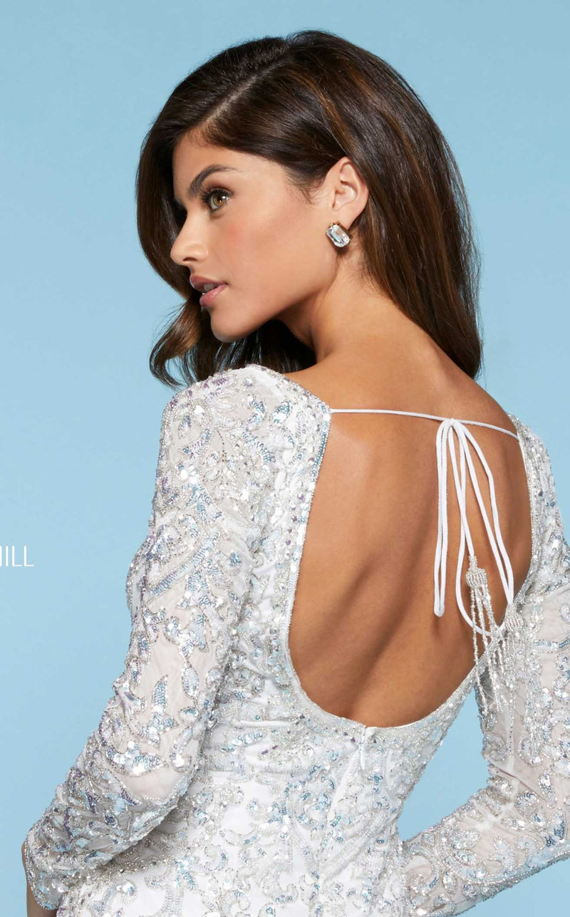 Sherri Hill 53058 Dress Ivory-Silver