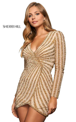 Sherri Hill 53951 Nude/Gold