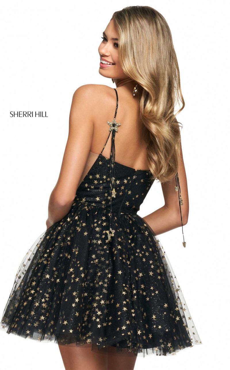 Sherri Hill 53972 Black/Gold