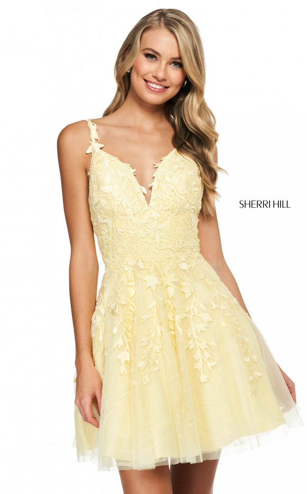 Sherri Hill 53983 Yellow