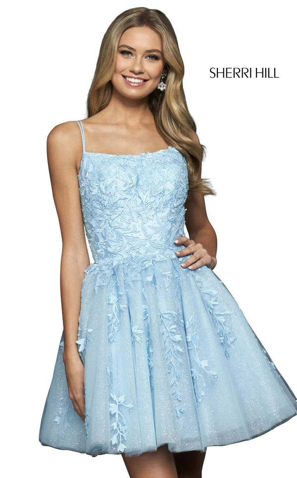 Sherri Hill 53985 Light Blue