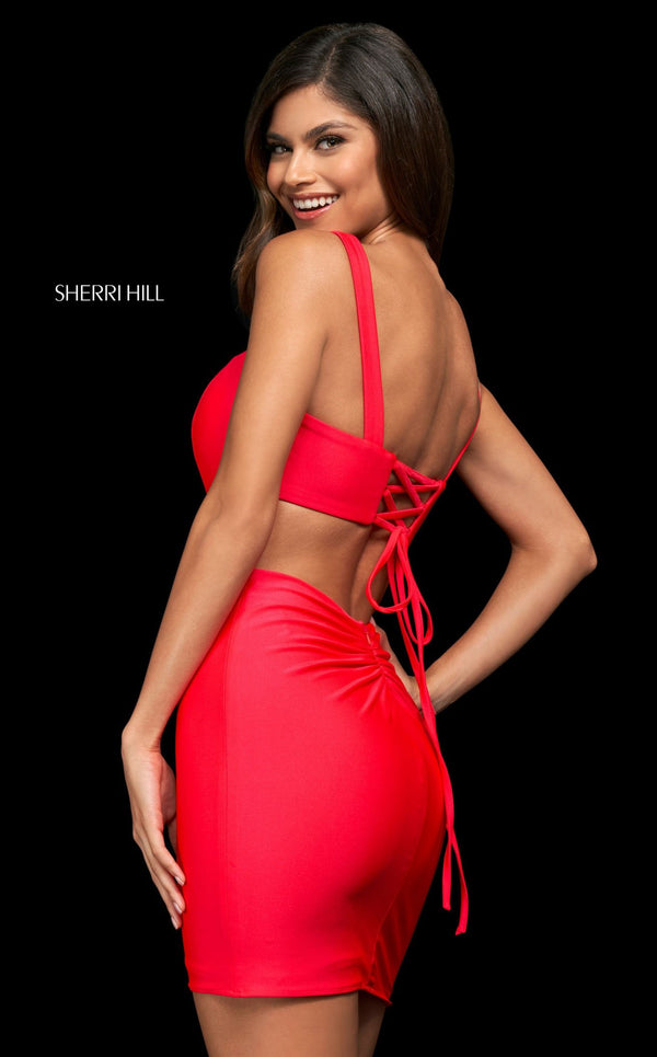 Sherri Hill 54000 Dark Coral