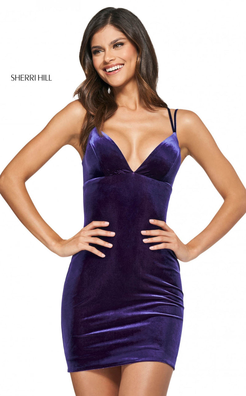 Sherri Hill 54006 Purple