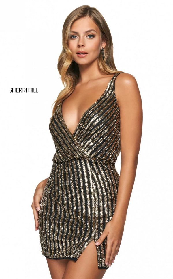 Sherri Hill 54032 Black/Gold