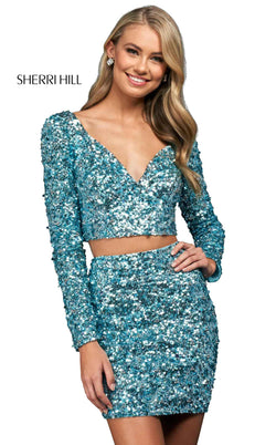 Sherri Hill 54054 Light Blue