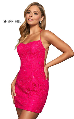 Sherri Hill 54074 Bright Pink