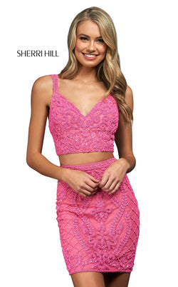 Sherri Hill 54123 Bright Pink