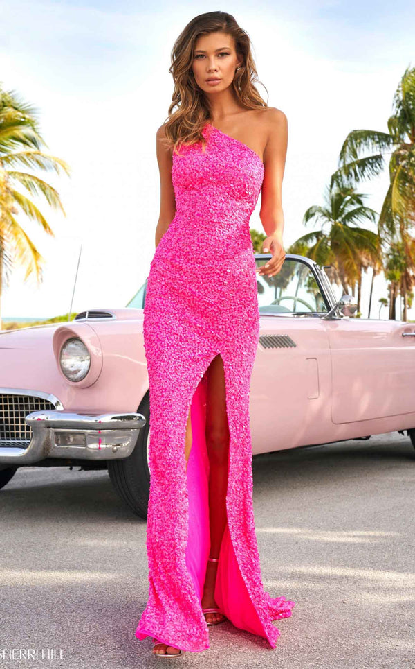 Sherri Hill 54330 Dress Neon-Pink