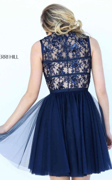 Sherri Hill 50636 Navy Back