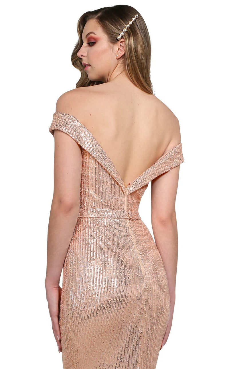 Tina Holly TA822 Dress Rose-Gold