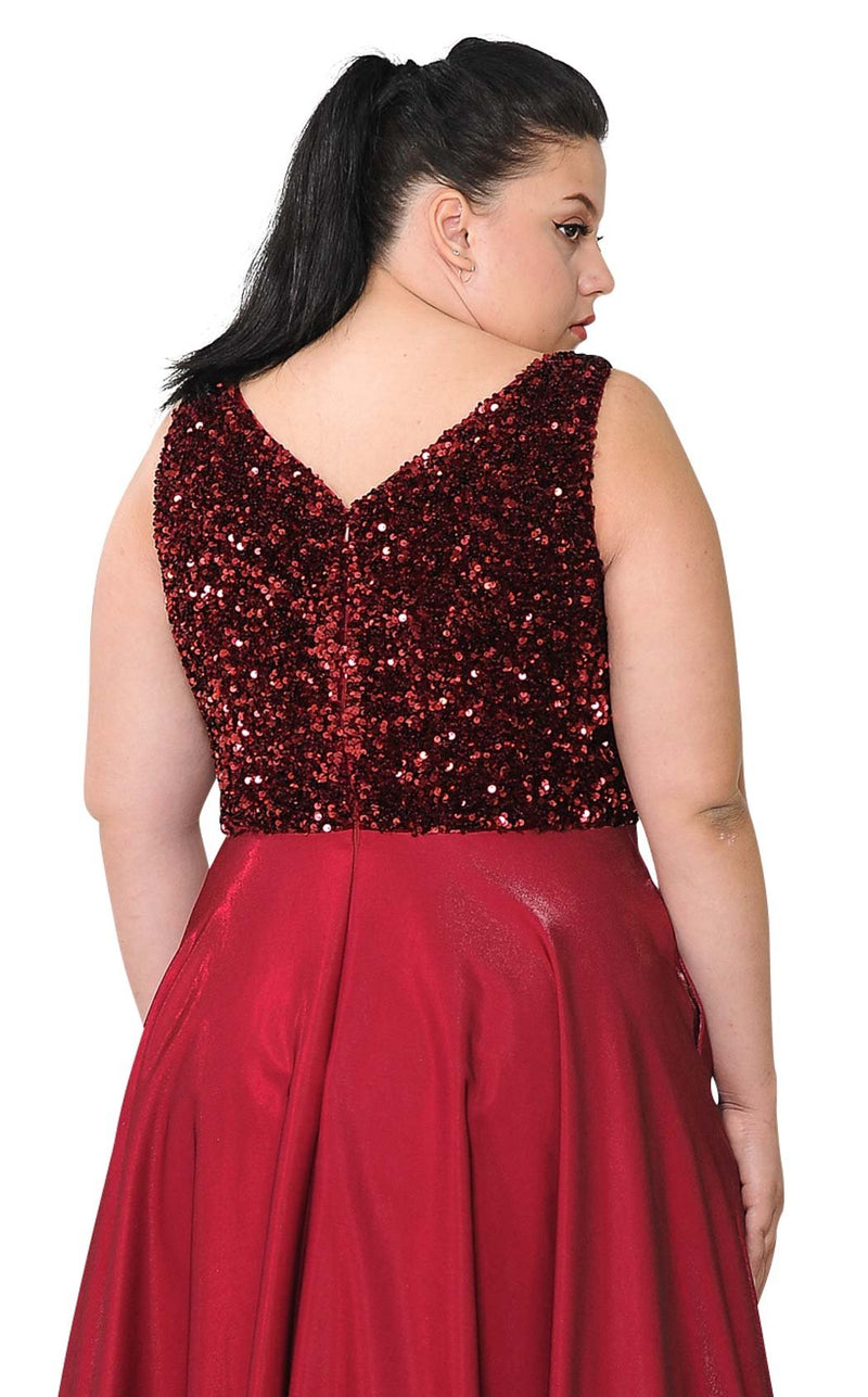 Lindas W1006 Dress Burgundy