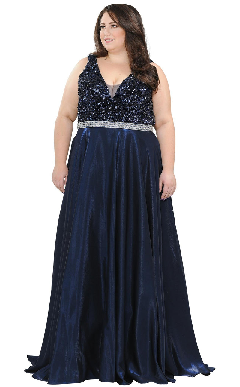 Lindas W1006 Dress Navy