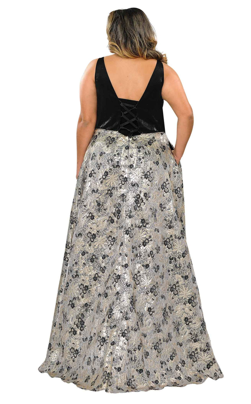 Lindas W1012 Dress Black-Silver