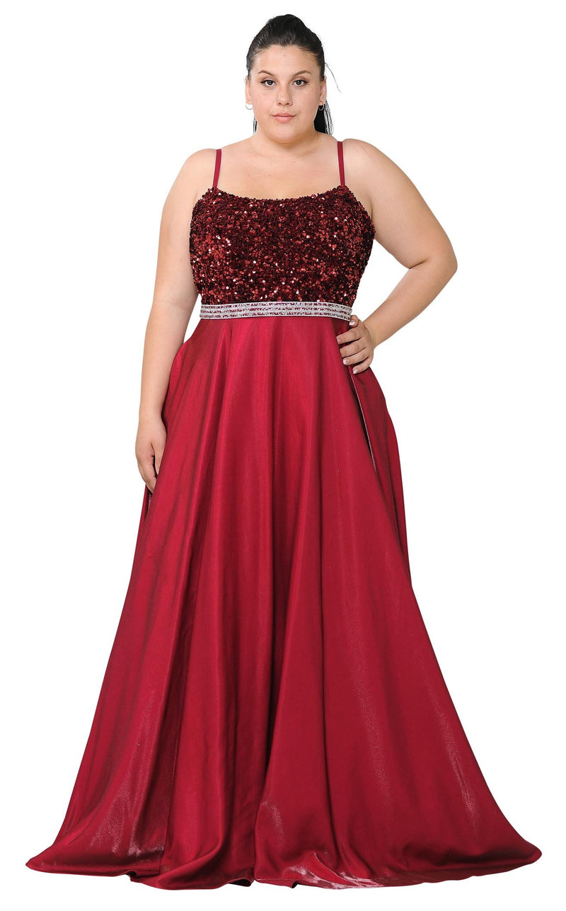 Lindas W1018 Dress Burgundy