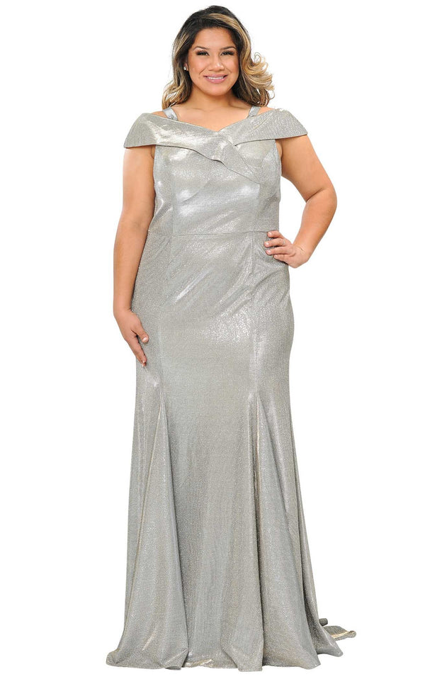 Lindas W1042 Dress Silver-Gold