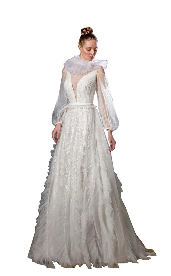 Ziad Germanos ZG50 Dress Ivory