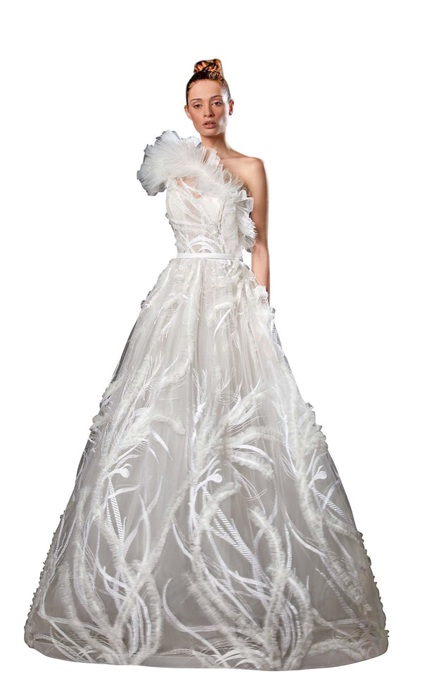 Ziad Germanos ZG51 Dress Ivory