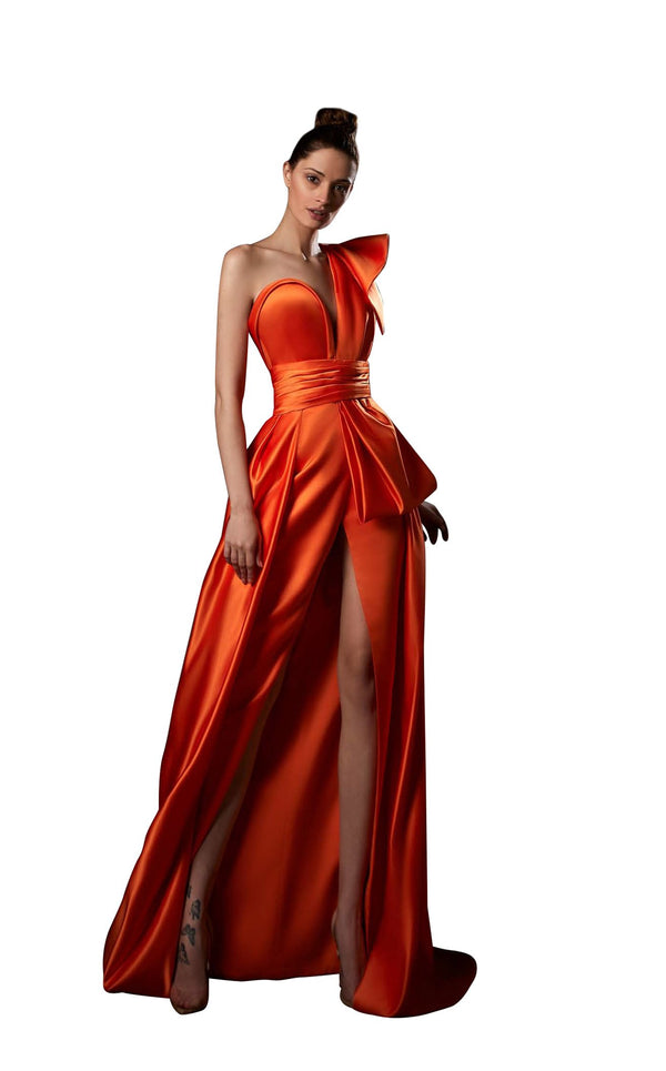 Ziad Germanos ZG56 Dress Orange