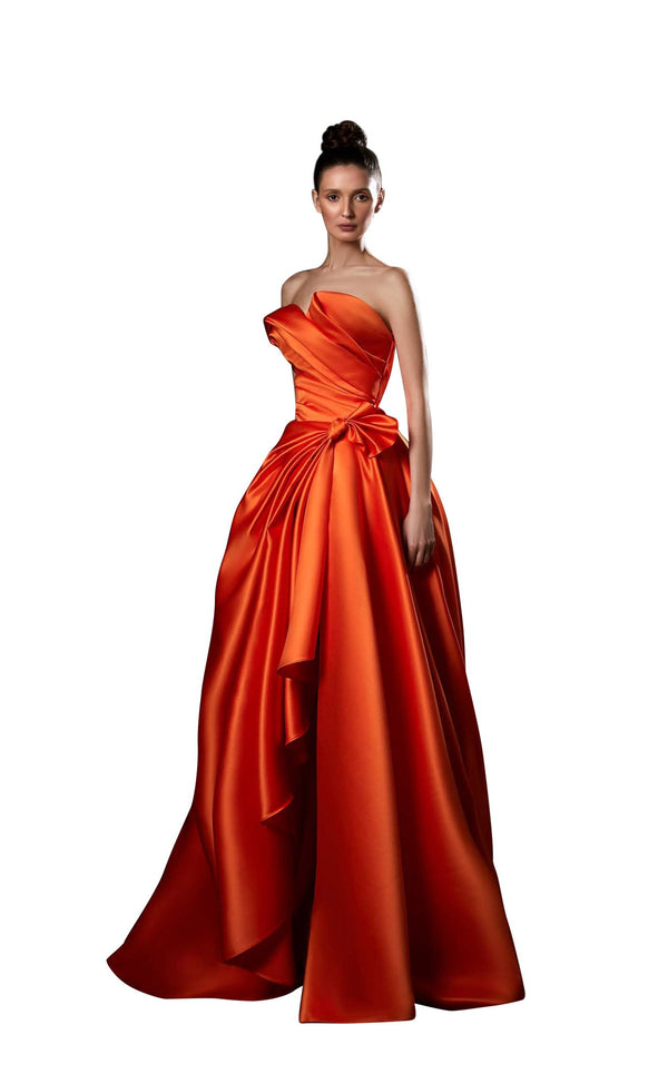Ziad Germanos ZG57 Dress Orange