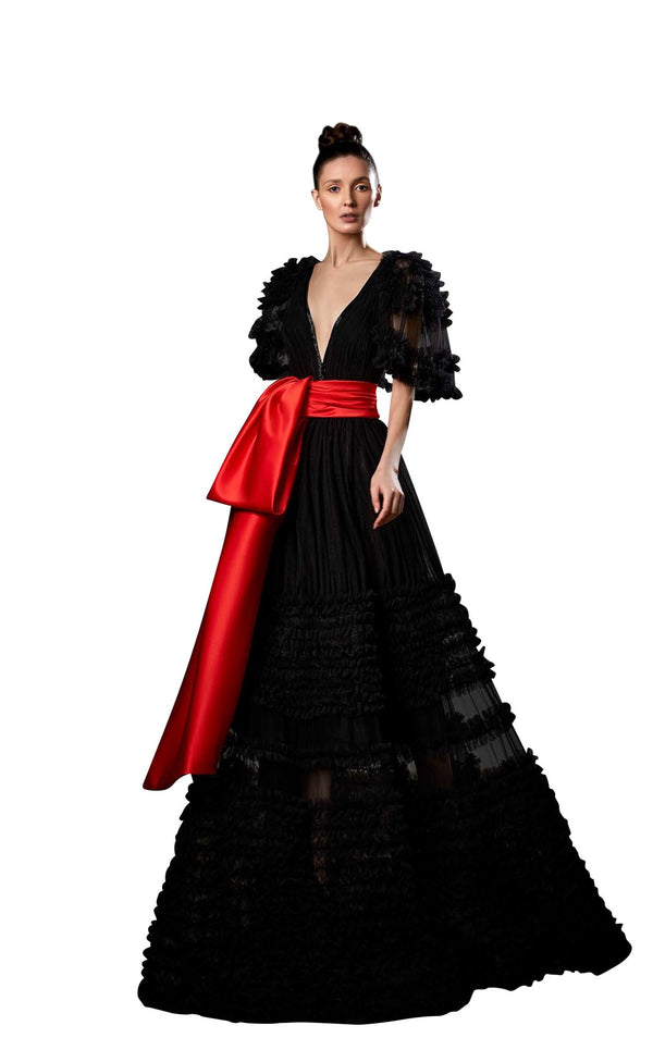 Ziad Germanos ZG63 Dress Black-Red