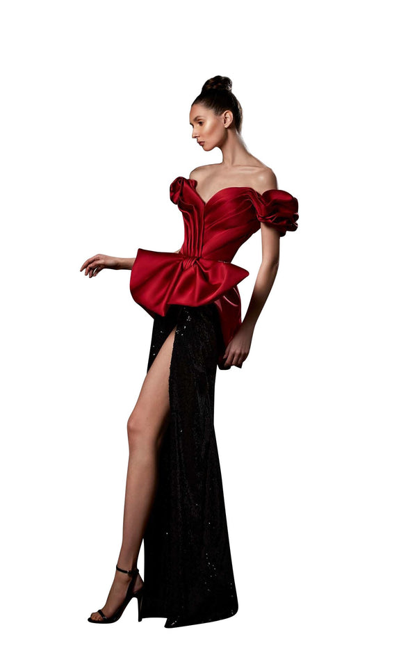 Ziad Germanos ZG64 Dress Black-Red