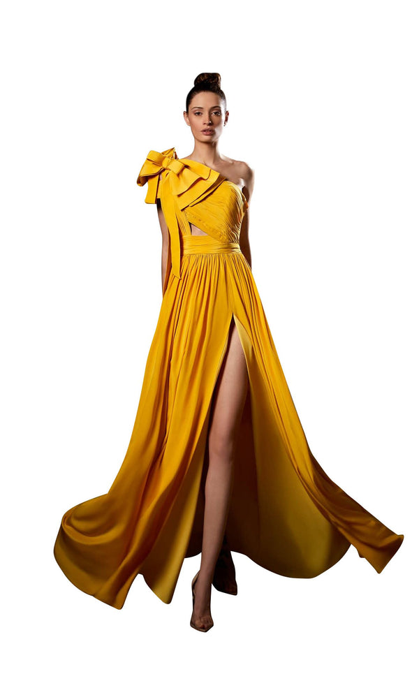Ziad Germanos ZG78 Dress Yellow