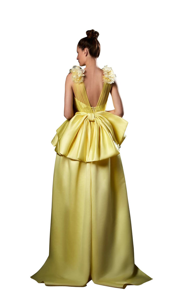 Ziad Germanos ZG81 Dress Yellow
