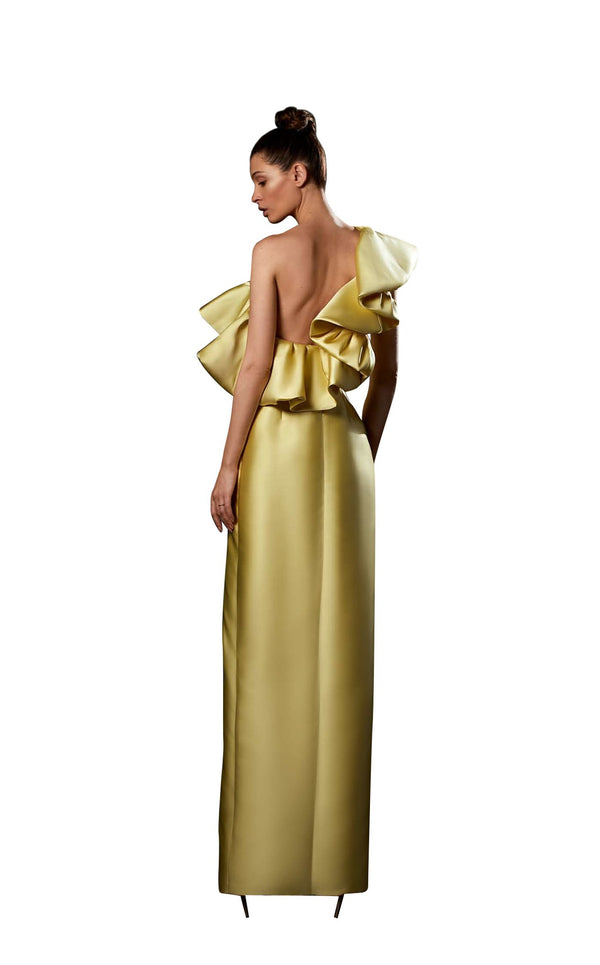Ziad Germanos ZG83 Dress Yellow