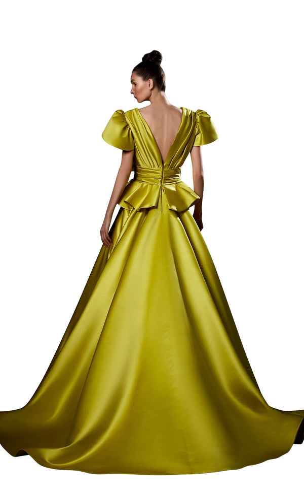 Ziad Germanos ZG85 Dress Chartreuse