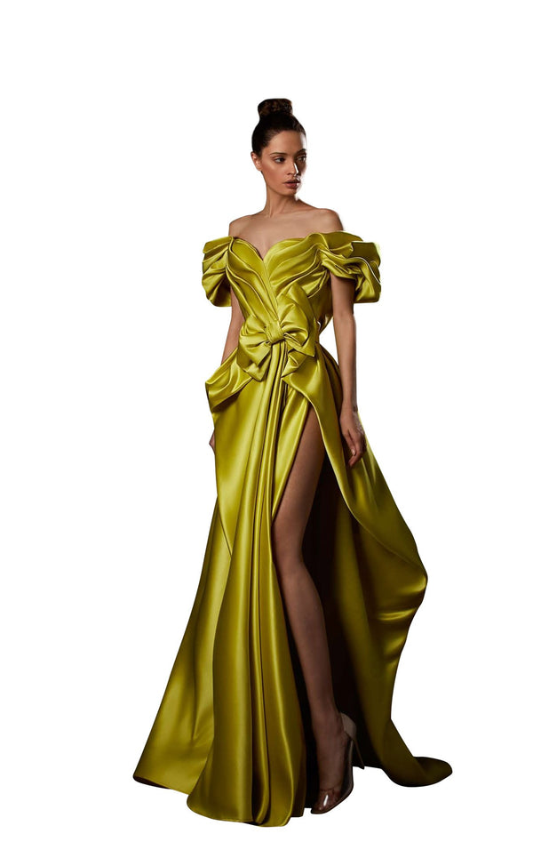 Ziad Germanos ZG86 Dress Chartreuse