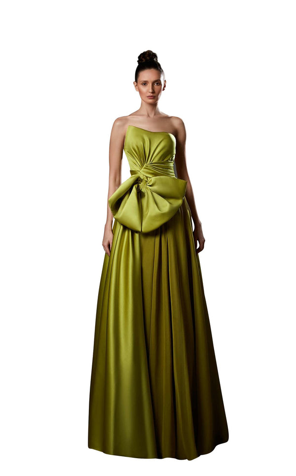 Ziad Germanos ZG88 Dress Chartreuse