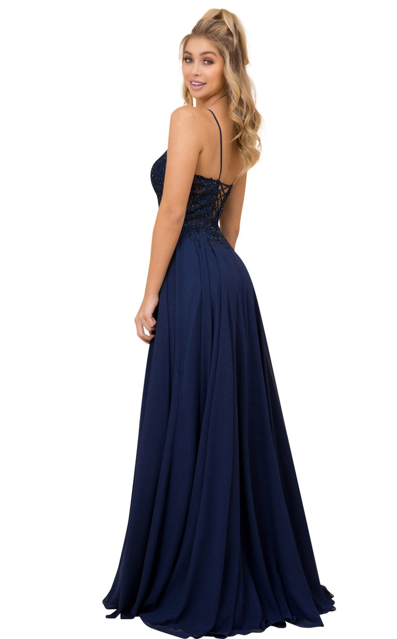 Nox Anabel A389 Dress Navy-Blue