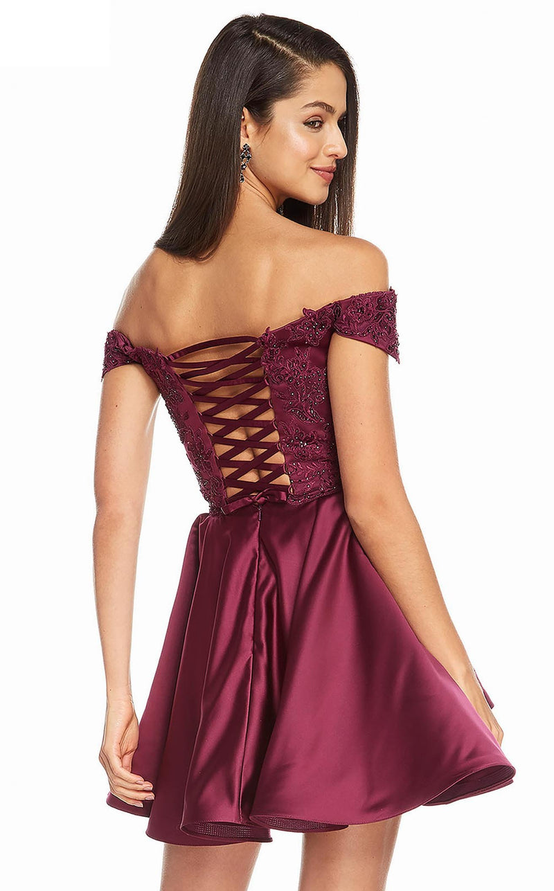 Alyce 3828 Dress Black Cherry