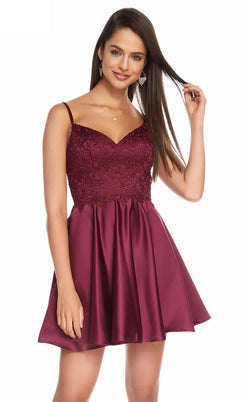 Alyce 3848 Dress Black Cherry