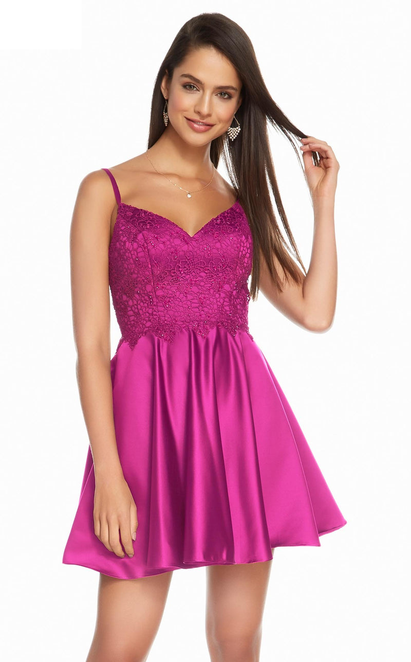 Alyce 3848 Dress Raspberry