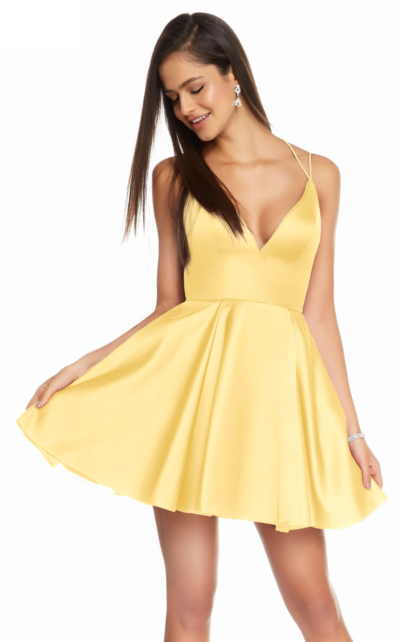 Alyce 3876 Dress Yellow