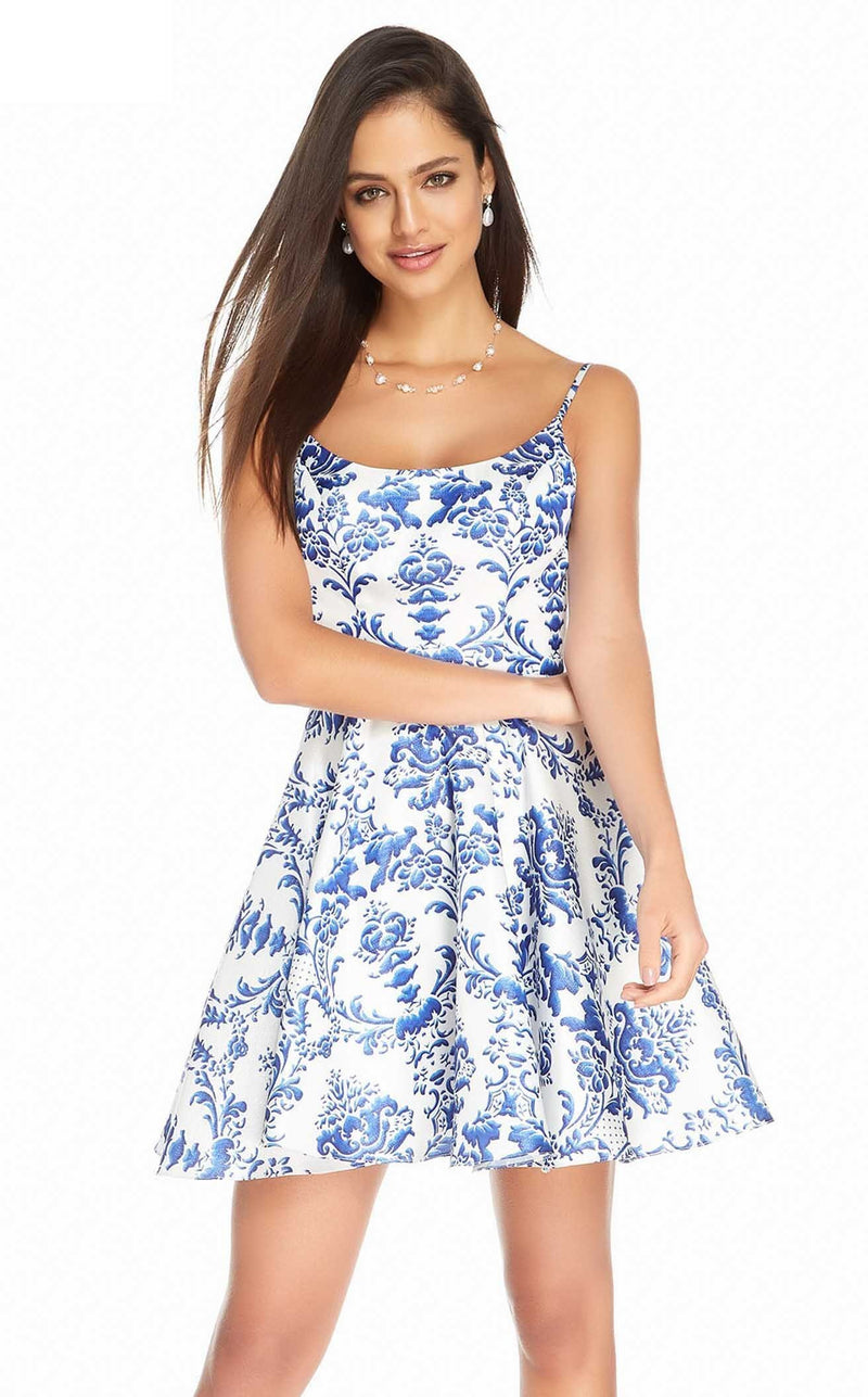 Alyce 3906 Dress Blue-White