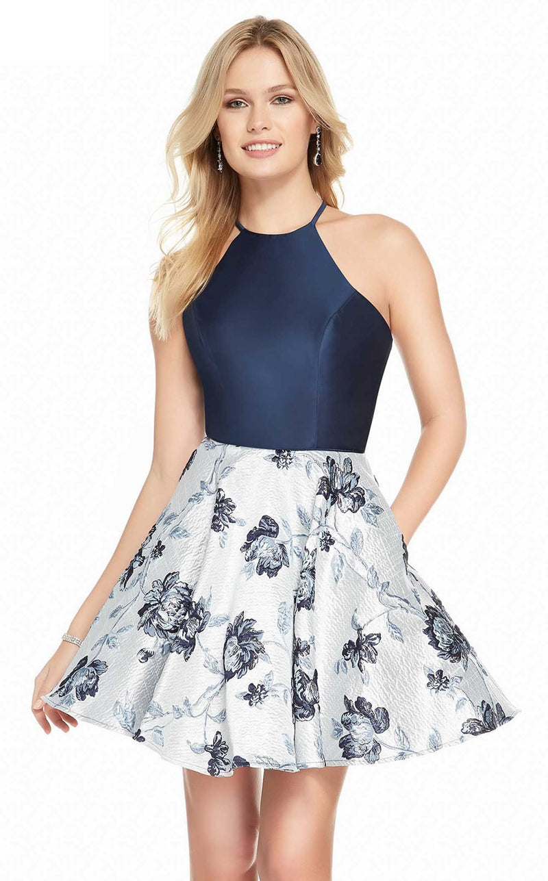 Alyce 3911 Dress Navy-Silver