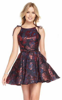 Alyce 3914 Dress Black-Wine