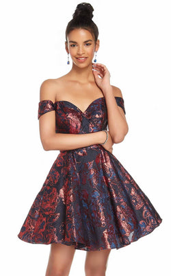 Alyce 3915 Dress Black-Wine