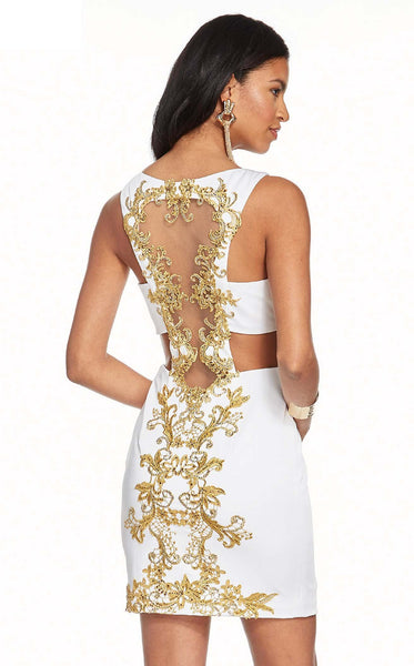 Alyce 4083 Dress Ivory Gold