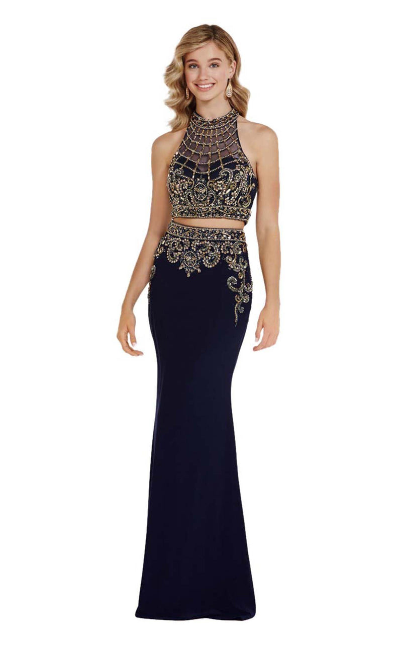 Alyce 6695 Navy-Gold