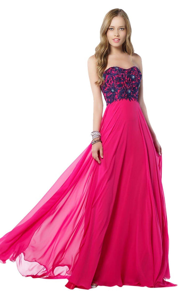 Alyce 6812 Hot-Pink-Navy