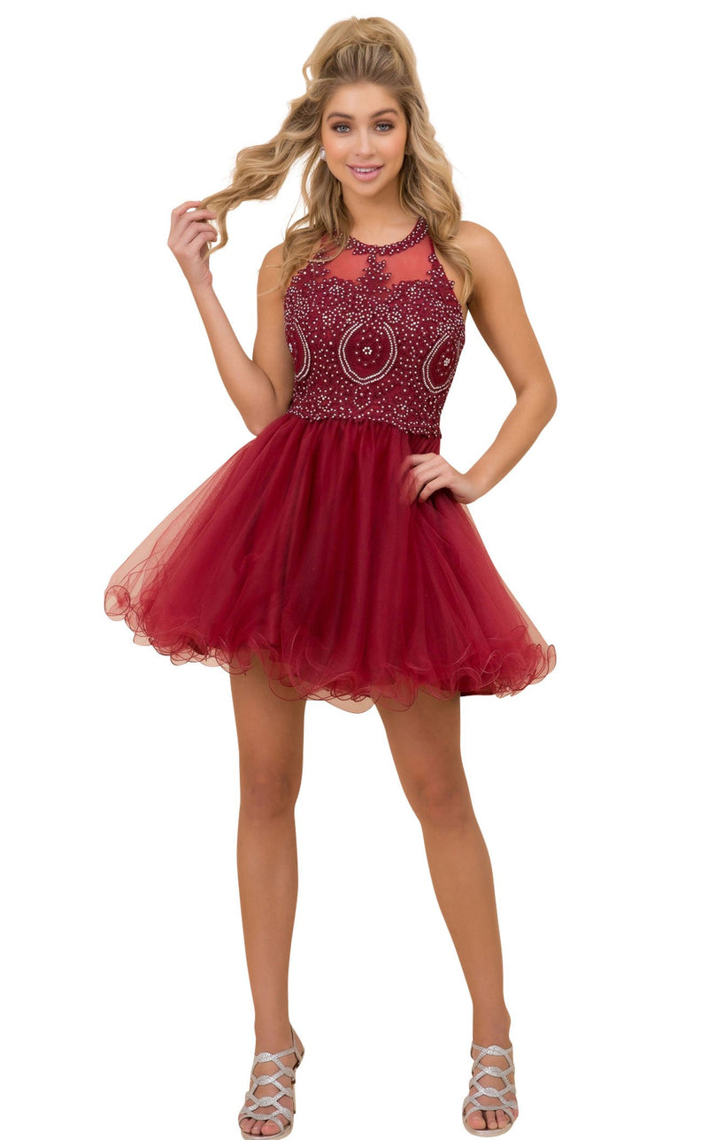 Nox Anabel B652 Dress Burgundy